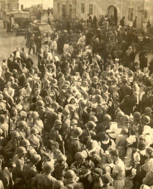 Osvobození Velešína v roce 1945.
