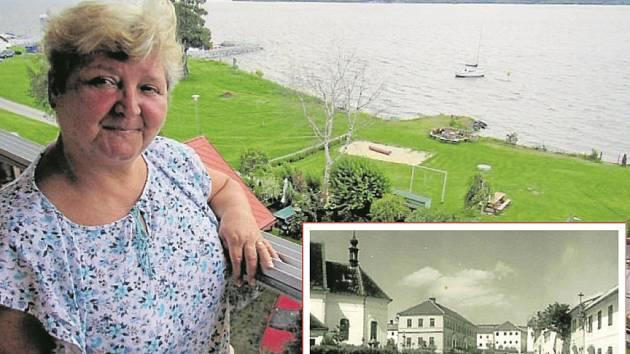 VYHLÍDKA NA LIPNO. Pohled z penzionu na jezero byl pro Emu Kondyskovou a jejího muže inspirací.