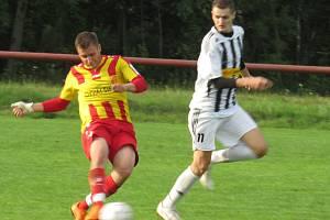 Příprava: FK Spartak Kaplice B (bíločerné dresy) – Sokol Chvalšiny 4:1 (2:1).