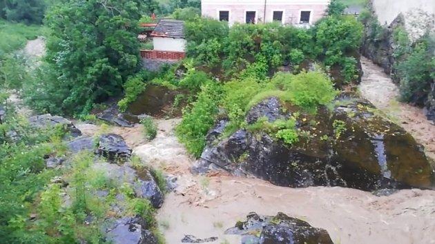 Řádění vody na Krumlovsku