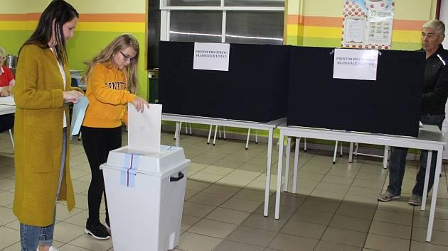 Komunální volby 2018 v Kaplici v Základní škole Fantova.