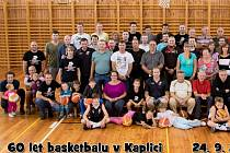 Na oslavy šedesátých narozenin basketbalu dorazili do Kaplice hráči a hráčky všech věkových kategorií, a to od zakladatelů až po současné bojovníky.