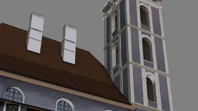 Zatímco dříve vyráběli lidé modely z papíru, ze dřeva či jiných materiálů, nyní už mnoho zvládnou počítačové jedničky a nuly. Tomáš Dolanský a digitální model kostela svatého Jošta.