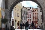 Český Krumlov o prvním májovém víkendu.