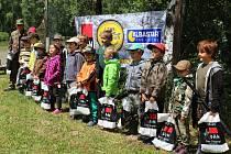 Rybářské závody pro děti na Malé Olšině.