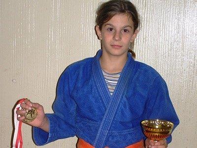Medailovou sbírku kaplického judistického oddílu naposledy rozhojnila největší klubová naděje Markéta Havlíčková na turnaji v rakouském Welsu.