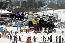 Ski areál Lipno nad Vltavou.