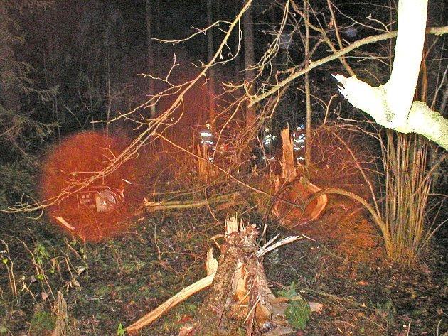 Honička skončila nehodou na Lipensku.
