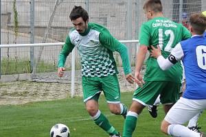 Václav Novák je oporou fotbalistů Českého Krumlova.