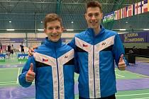 Jihočeši Tomáš Švejda (vlevo) a Jan Janoštík v dějišti juniorského mistrovství Evropy v Lahti.