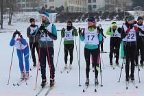 V sobotu se ve Frymburku konal unikátní závod v klasickém běhu na lyžích s nulovým převýšením, celý se běžel po zamrzlém Lipně.