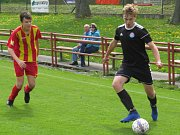 KP starší žáci – 22. kolo: FK Spartak Kaplice (černé dresy) – FK Junior Strakonice 1:1 (1:1) na penalty 3:2.