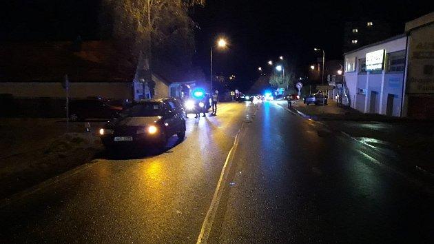 Tragický střet chodce s autem v Českém Krumlově