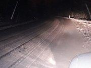 Takto to vypadalo kolem 6. hodiny ráno mezi Nádražím Kaplice a Českým Krumlovem.
