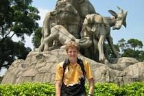 Pavel Florián na soustředění v Číně.