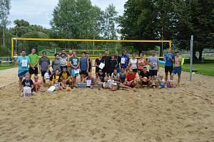2. ročník turnaje Kaplický beach na koupáku, který se konal 17. srpna 2019.