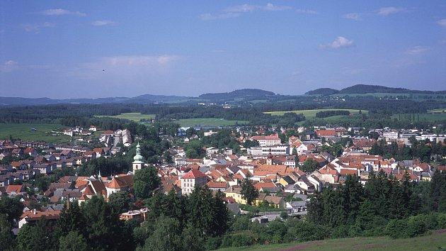 Město Kaplice.