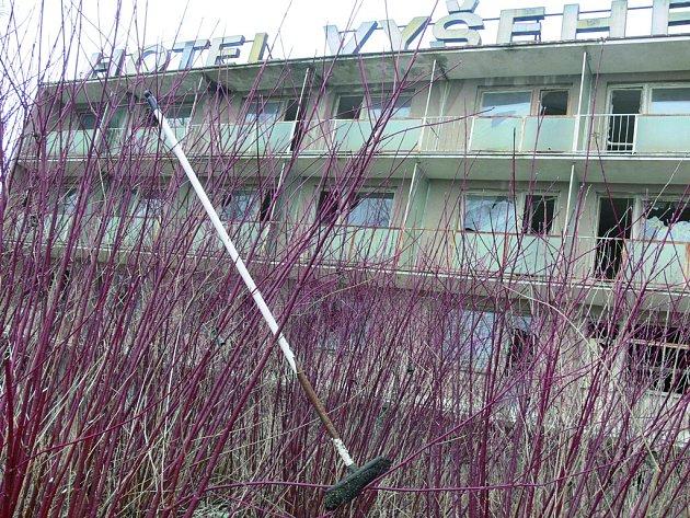 Hotel Vyšehrad v Českém Krumlově - aktuální stav.