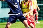 I.B třída (skupina A) – 4. kolo (3. hrané): FK Dolní Dvořiště (modré dresy) – Sokol Chvalšiny 5:1 (2:0).