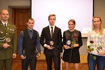 Nejúspěšnější sportovci Českokrumlovska za rok 2018 - v elitní desítce jsou František Jeřábek, Martin Novák, Antonín Řepa, Karolína Paloudová a Hana Milisová (zleva).