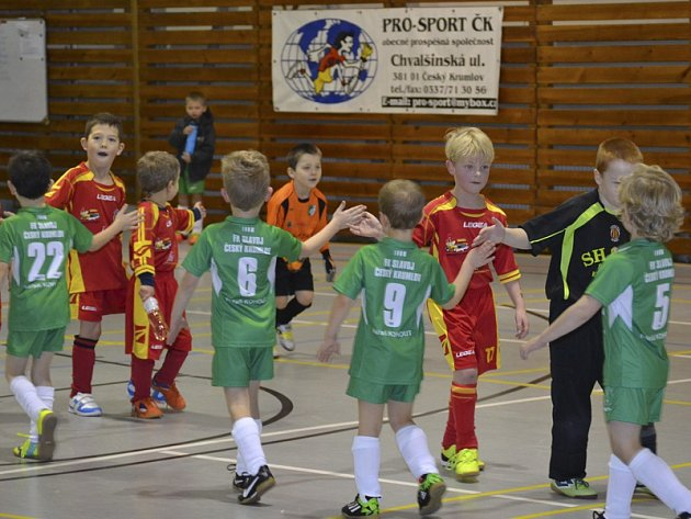 Dlouhodobé seriály turnajů přípravek - Depo Cup - v krumlovské městské sportovní hale finišují.