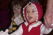 Děti v kostýmech a maskách na soběnovském maškarním bále byly okouzlující.