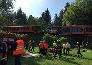 Střet dvou osobních vlaků u obce Mříč na Českokrumlovsku.
