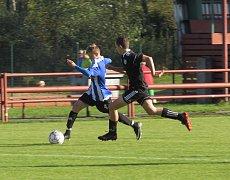 KP starší žáci – 10. kolo: FK Spartak Kaplice (černé dresy) – TJ Blatná 3:0 (3:0).