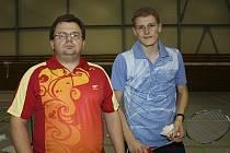 Pavel Florián (vpravo) se už těší na přípravu v domácím prostředí se svým trenérem Radkem Votavou.