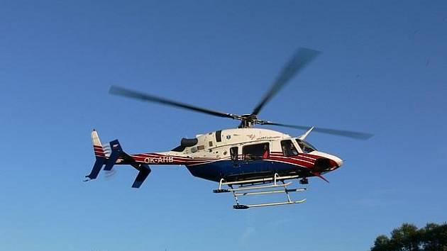 Na Českokrumlovsku opět zasahoval vrtulník Rychlé záchranné služby.