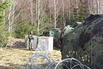 Návštěva generála Opaty na vojenském cvičení v Boleticích.