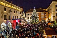 Advent na českokrumlovském náměstí.