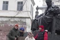 Vítězové soutěže Děti pro UNESCO – UNESCO dětem navštívili Litomyšl.