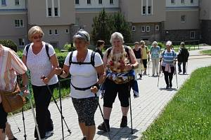 Senior klub Loučovice podpořil Lidice výšlapem nazvaným 5 tisíc kroků pro zdraví.