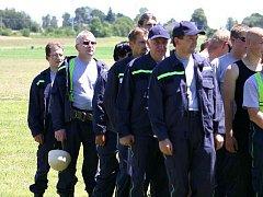 Dobrovolní hasiči z Prostředních Svinců.