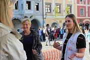 Na krumlovském náměstí je do pátku k vidění putovní výstava Lékařů bez hranic.