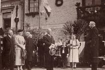 Z návštěvy prezidenta Edvarda Beneše v Kaplici v roce 1937.