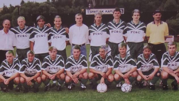 Fotbal v Kaplici píše stoletou historii. Slavná sezona 1998/99 - přeborník kraje a postupující do divize.