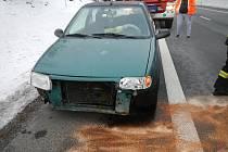 Osobní automobil se na E 55 srazil se srnou.