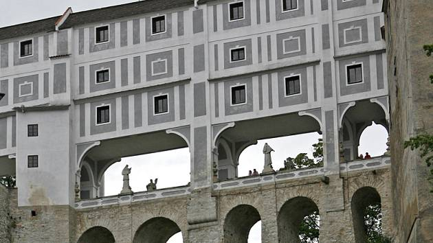 Plášťový most v Českém Krumlově.