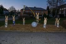 Velikonoční výzdoba v Bohdalovicích.