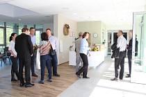 Vestibul s recepcí Domova pro seniory v Kaplici.