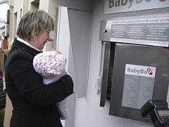 Babybox v Českém Krumlově.