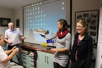 Historickou skupinu vedla Kateřina Horníčková (vpravo), Lenka Závitkovská je autorkou 3D modelů a Libor Dostálek založil a vedl Ústav aplikované informatiky na budějovické přírodovědné fakultě, který se na projektu PhotoStruk podílel.