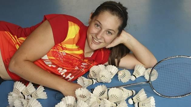 Lucie Černá z SK Badminton Český Krumlov.