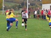 Fotbalová divize žen (skupina D) - 9. kolo: FK Spartak Kaplice (bíločerné dresy) - TJ Sokol Jindřichův Hradec 5:0 (3:0).