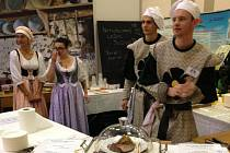 Studenti z kaplické střední školy na Gastrofestu v Českých Budějovicích.