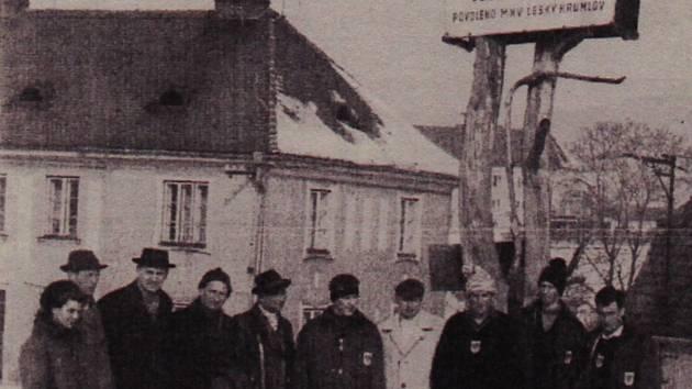 Sáňkařská dráha na Křížové hoře.