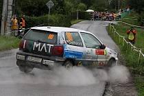 Martina Daňhelová a Martina Zikmundová (na snímku z Horácké rally v Třebíči) vstupují do druhé poloviny šampionátu rallysprintů ze šestého místa průběžného pořadí třídy N/1600.