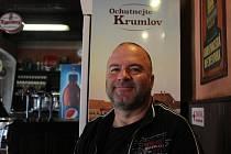 Jiří Shrbený a Pivovarská prodejna pivovaru Krumlov.